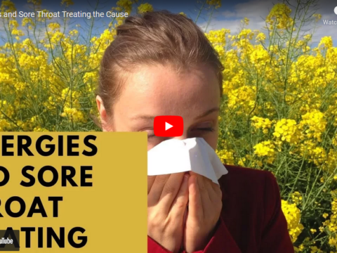 can allergies cause sore throat