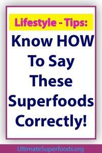 Superfood-Correctly