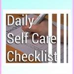 Daily Self-Care Checklist